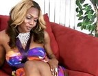 sweet ebony shemale blowjob
