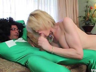 lucky romantic tranny pumping